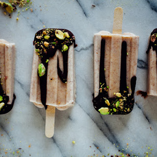 Almond Butter Popsicles.