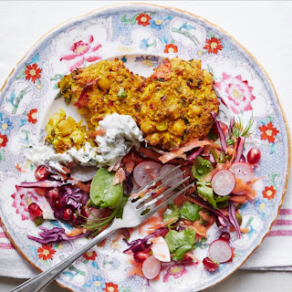 Cauliflower Chickpea Curry Cakes