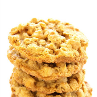CHEWY OATMEAL PEANUT BUTTER BUTTERSCOTCH COOKIES.