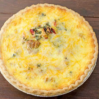 Sausage, Roasted Red Pepper, And Spinach Quiche