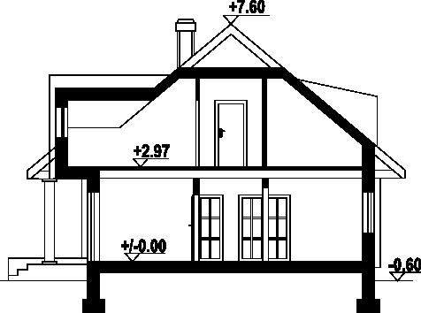 Chmielniki małe dw 57 - Przekrój