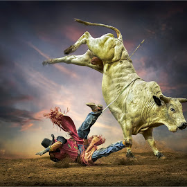 real time pain by Dries Fourie - Sports & Fitness Rodeo/Bull Riding