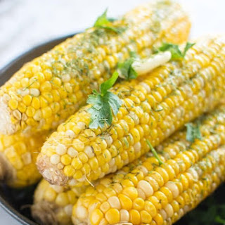 Slow Cooker Buttery Dill Corn on the Cob.
