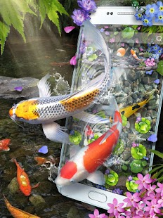 3D Koi Fish Theme & Lively 3D Ripple Effect Screenshot