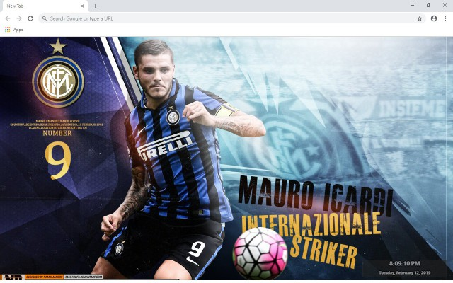 Mauro Icardi New Tab & Wallpapers Collection