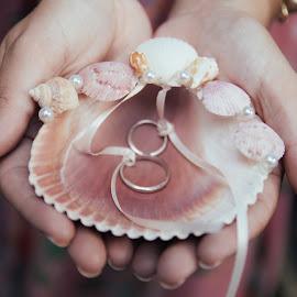 I do, do you? by Nico Rivas - Wedding Details ( hands, rings, shell, wedding,  )
