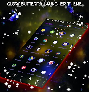 Glow Butterfly Launcher Theme - náhled