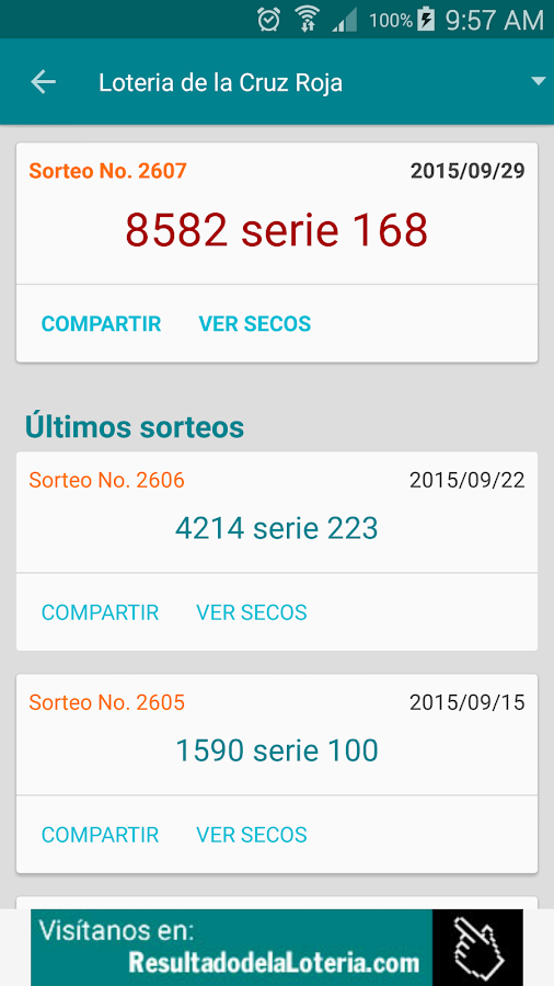 Resultado Loterias Colombia- screenshot