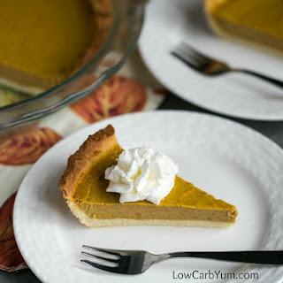 Low Carb Pumpkin Pie Recipe - Gluten Free