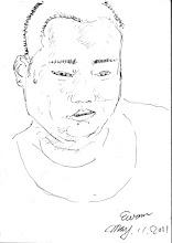 Photo: 胖子2011.05.11鋼筆 什麼時候幫我畫? 每次遇到胖子,他總是一臉期盼地要問我。 好吧!那就過來吧!