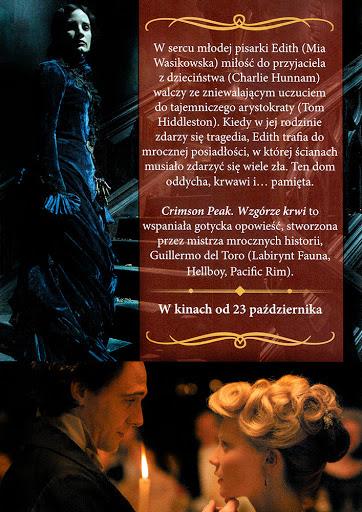 Tył ulotki filmu 'Crimson Peak. Wzgórze Krwi'