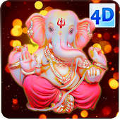 4D Ganesha Devotees Live Wallpaper