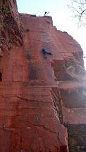 Photo: No idea who she is, but she sure can climb...