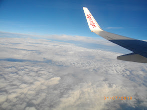 Photo: On the flight from Bangalore to Delhi