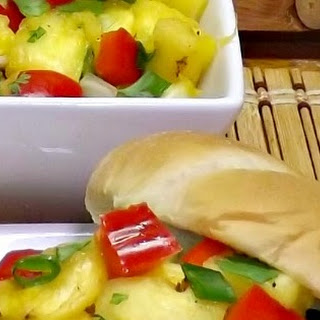 Grilled BBQ Turkey Burgers with Pineapple Salsa