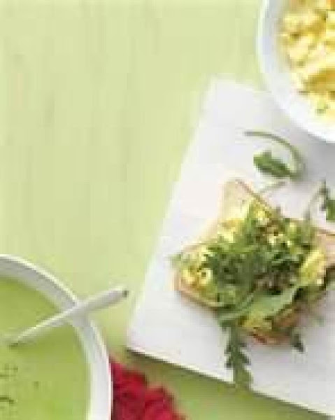 Chilly Pea Soup With Egg Salad Samies Recipe
