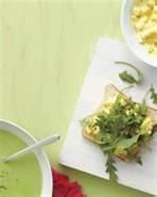 Chilly Pea Soup With Egg Salad Samies
