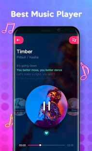 Music Player Style Samsung S8 edge - Free Music - náhled