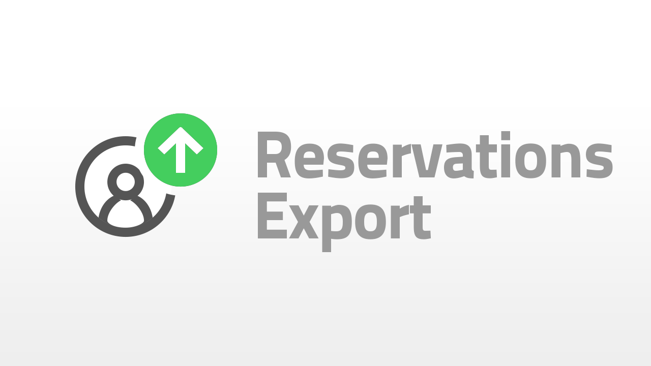 reservation export