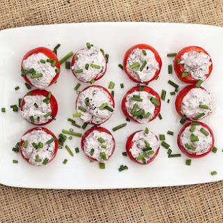 Kalamata Olive & Goat Cheese Stuffed Cherry Tomatoes