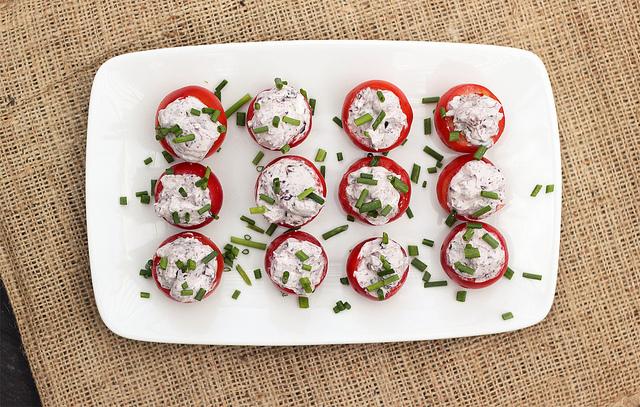 Kalamata Olive & Goat Cheese Stuffed Cherry Tomatoes Recipe | Yummly