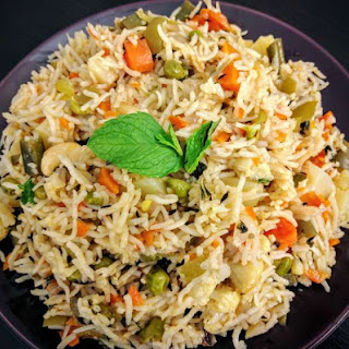 Veg Pulao Recipe (Vegetable Pilaf)