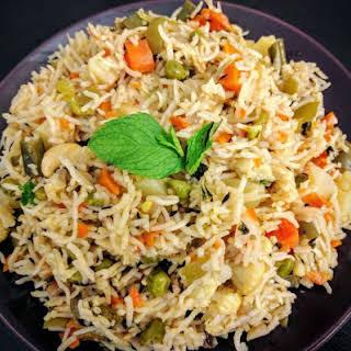Veg Pulao Recipe (Vegetable Pilaf).