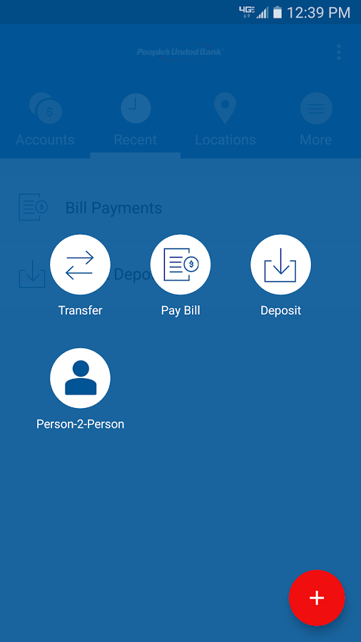 People's United Bank Mobile- screenshot