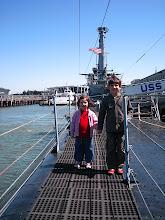 Photo: Simon and Charlotte on USS Pampanito