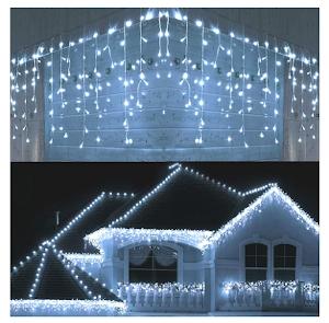 Instalatie tip franjuri, 10 metri, 250 LED, interconectabila
