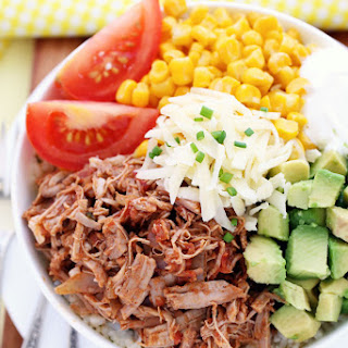 Slow Cooker Pork Burrito Bowls