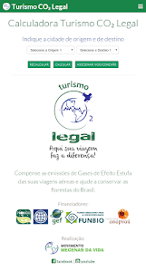 Calculadora Turismo CO₂ Legal screenshot 0