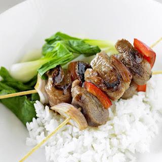 Asian Turkey Kebabs.