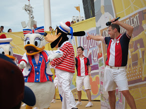 Photo: On Deck of the Disney Dream (Sail Away party)