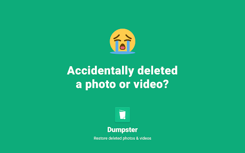 Restore Deleted Photos and Video Files by Dumpster Screenshot