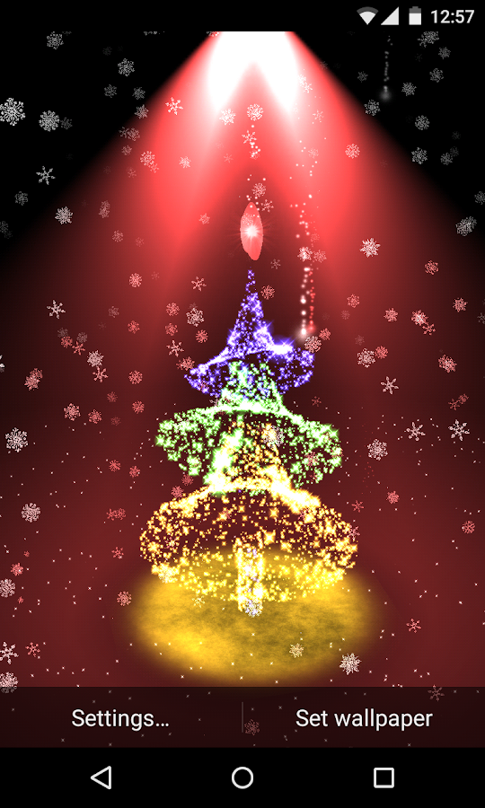Christmas tree 3D live wallpaper HD - Android Apps on ...