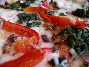 Photo: Fresh Mushrooms, Red Bell Peppers, and Spinach, make an awesome Veggie trio of toppings on a pizza!