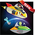 Galaxy Aliens on fire icon