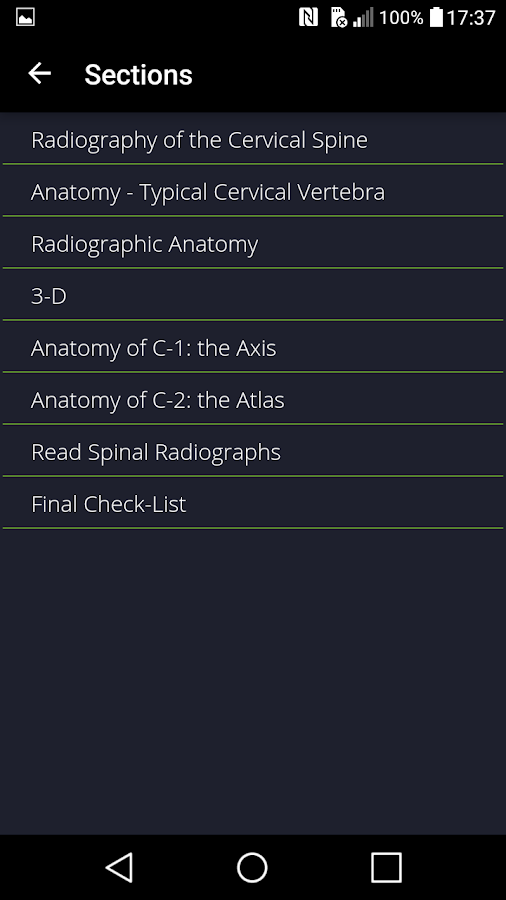 Cervical Spine- screenshot
