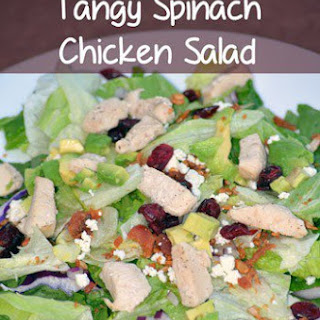 Tangy Spinach Chicken Salad