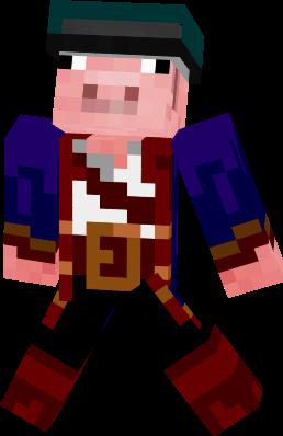 A pirate pig
