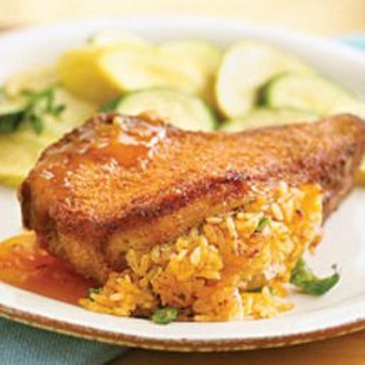 Mediterranean Stuffed Pork Chops Recipe