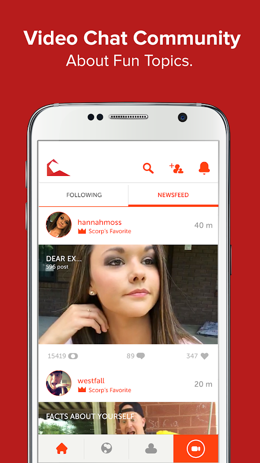 Scorp - Social Video Community- screenshot