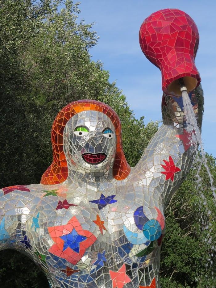 Niki de Saint Phalle, La Stella (dettaglio), Giardino dei Tarocchi, Capalbio