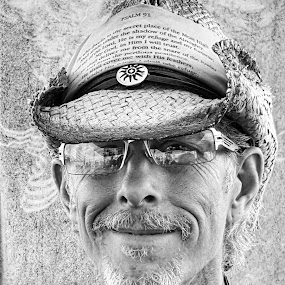 Tattoo Man by Lauren DeJarnatt Yoder - People Portraits of Men ( b&w, tattoo, man,  )