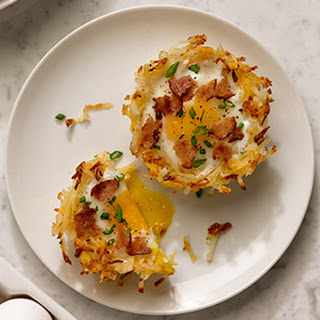 Baked Egg & Chicken Bacon Hash Brown Cups