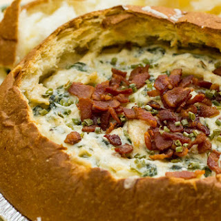Bacon Spinach Artichoke Asiago Dip.