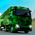 Army truck driving simulator 3d army truck games icon
