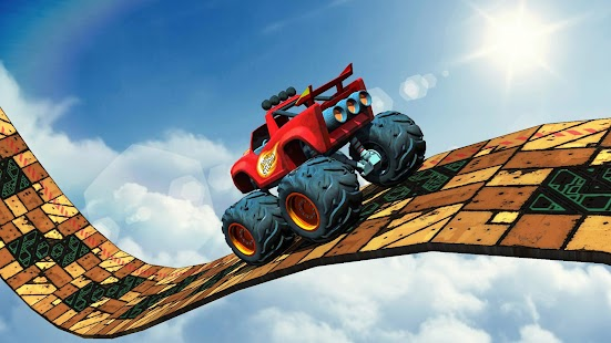 Impossible 4x4 Monster Truck:Rooftop Tricky Stunts - náhled