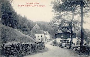Photo: Wünschendorf im Erzgebirge  Hammermühle  Neunzehnhain  --- Postkarte um 1915